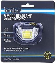 Brillar BR0030-BLACK BR0030-BLACK 5 Mode Headlamp with COB LED Technology Wide Beam Light Adjustable Headband 90 Degree Ru...