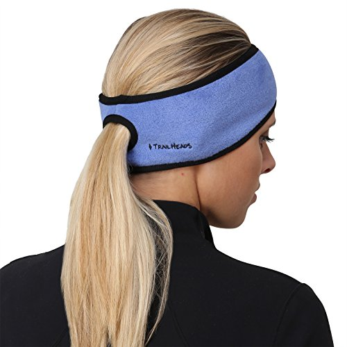 TrailHeads Women's Ponytail Headband – French Blue/Black