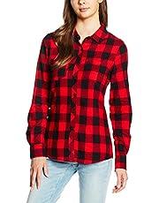 Urban Classics Dames overhemd Ladies Turnup Checked Flanell Shirt