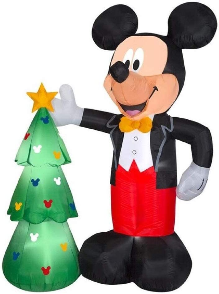 In stock Gemmy 7.5FT Inflatable Christmas with Tre Wholesale Mouse Mickey