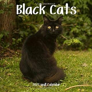 Black Cats 2021 Wall Calendar: Black Cats Calendar 2021, 18 Months, 8.5 x 8.5