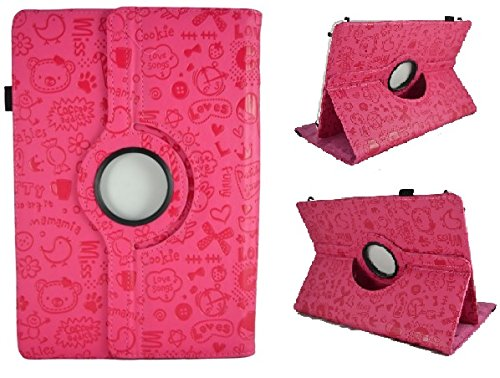 Schutzhülle mit originellem Design für Tablet Toshiba Excite At10 10,1 Zoll (25,7 cm) – Pink mit Zeichnungen (ST-014)