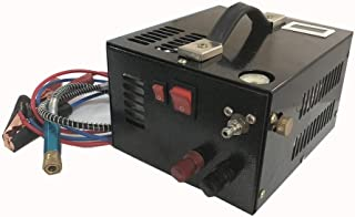 HPDAVV 12V DC 30Mpa PCP Rifle Compressor Scuba Tank Pump with Digital Temperature Display,Oil-Free Paintball Compressor Pump,US After-Sales Servic,5.5 KG,Operational Video