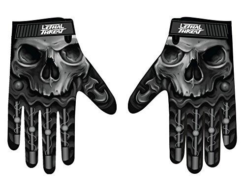 Lethal Threat GL15004XL Men's Gloves (Skull Men Hand)(Black, X-Large), 1 Pack