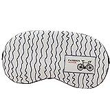 Lumanuby 1 Stück Augenmaske mit Kühlkissen für Schlafen Entspannen Schlafmaske aus Baumwolle und Leinen Welle mit Fahrrad Bid für Pendler und Schichtarbeiter 20 * 9.5CM, Schlafbrille Serie