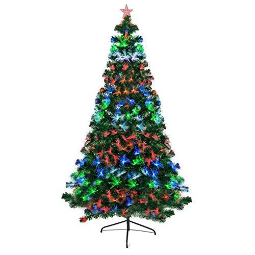 Goods & Gadgets Künstlicher Weihnachtsbaum mit LED Beleuchtung Tannenbaum Edeltanne Christbaum-Ständer 180cm