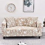 WXQY Funda de sofá elástica con diseño de Flor de melocotón, Funda de sofá con protección para Mascotas, Esquina en Forma de L, Funda de sofá con Todo Incluido, A15, 4 plazas