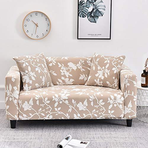 WXQY Funda de sofá elástica con patrón de Flor de melocotón, Funda de sofá con protección para Mascotas, Esquina en Forma de L, Funda de sofá con Todo Incluido, A15, 2 plazas