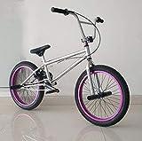 Bicicleta BMX Freestyle SWORDlimit para ciclistas principiantes y avanzados, cuadro de acero con alto contenido de carbono, engranaje BMX 25x9T, frenos traseros en forma de U y ruedas de 20 pulgadas,B