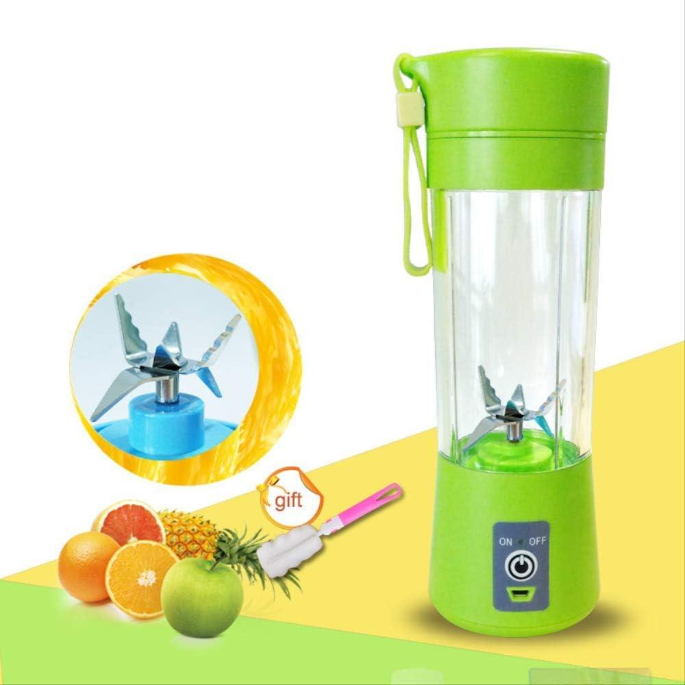 Licuadora de jugo portátil Copa de exprimidor usb Mezclador de frutas multifunción Máquina mezcladora de seis cuchillas Batidos Alimentos para bebés 380 ml Púrpura Blue