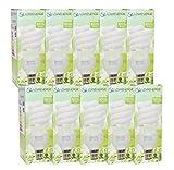 20W (= 110W) Energiesparend Spirale CFL 6500K Day Weiß Sad Farbe Leuchtmittel E27Edison Schraubsockel, Stick, 10Jahre, 10.000Stunden Kompaktleuchtstofflampe mit Pack Größen von Lowenergie Deckenleuchte, e27 20.0 wattsW
