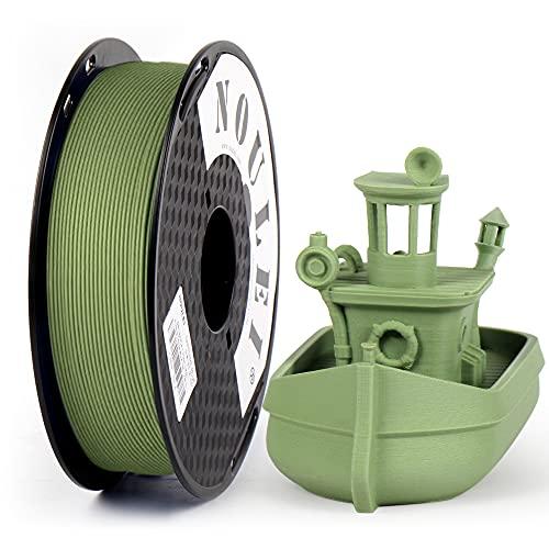 Noulei filamento stampante 3d, Matte PLA 1.75 mm filamenti per stampa 3D, 0.5 kg per bobina, Bean Green