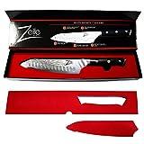 Zelite Infinity Santoku Messer 18cm –Küchenmesser der Alpha-Royal-Serie – Damastmesser aus Japanischem AUS-10 Superstahl - Damastmesser Küchenmesser – Rasiermesserscharf, Höchste Schnitthaltigkeit - 3