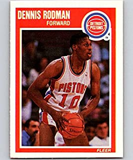 Basketball NBA 1989-90 Fleer #49 Dennis Rodman Pistons