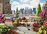 Ravensburger Rooftop Garden 500 Piece Large Format Jigsaw Puzzle for Adults – Every Piece is Unique, Softclick Technology Means Pieces Fit Together Perfectly