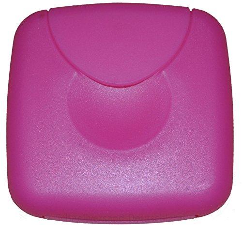 Tampon Aufbewahrung / Tampon Box / Dose für Tampons, Kondome oder Pflaster - Binden und Slipeinlagen (Pink)
