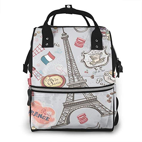 JUKIL Diaper Backpack Diaper Backpack Mummy Backpack Stars and Norma Galaxy Large Capacity Baby Bag Multi-Function Travel Backpack Waterproof Canvas Nappy Bag for Baby Care, Stylish and Durable