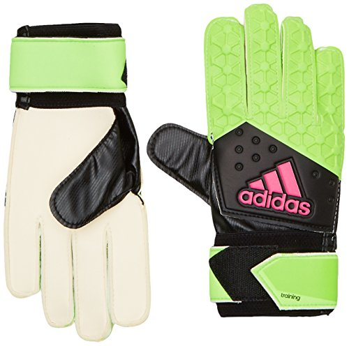 adidas Herren Torwarthandschuhe Ace Zones Ultimate Fußball, Solar Green/Core Black/Shock Pink S16/White, 9.5