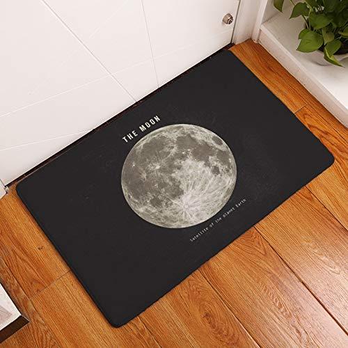 HLXX Planet Printed Floor Mat Entrance Door Mats Water Absorption Carpet Kitchen Rugs Doormat Living Room Non-Slip Rug A3 50x80cm