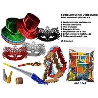 CAPRILO Lote de 10 Bolsas de Cotillones Decorativas Sombrero Copa. Cotillón para Fiestas y Eventos. Decoración Original para Bodas, Comuniones,Cumpleaños y Fin de Año(Nochevieja).