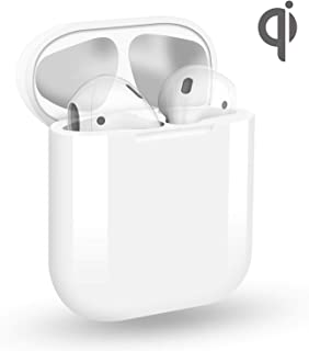 Wireless Charging Case for AirPods 1 & 2, Replacement Case for Charger Only, Protective Cover Support 5 Times Supply for AirPods -[No Pairing, No Sync Button, AirPods Not Included]