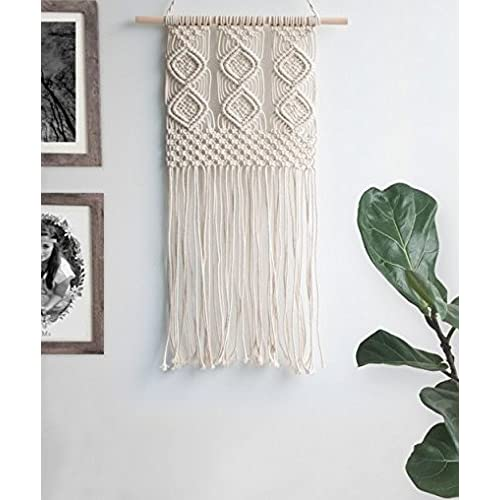Ialwiyo Handmade Decorations Natural Cotton Bohemia Macrame DIY Wall Hanging Plant Hanger Craft Making Knitting Cord