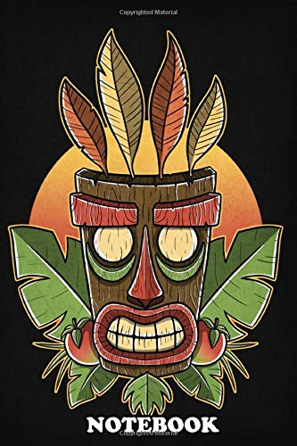 Notebook: Tiki Sunset , Journal for Writing, College Ruled Size 6