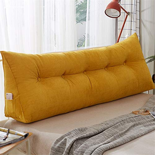 Solid color Bedside back Cushion Corduroy Headboard cushion sofa Bed Large Backrest Pillow Detachable headboard reading backrest Protect the Waist Wear resistant 180cm71inchA-60x22x50cm(24x9x20inch)