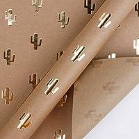 ✤: L'épaisseur est appropriée, facile à mettre en forme et permet de créer différentes formes d'emballage. Convient pour assortir les boîtes de fleurs de différentes couleurs. ✤: Utiliser une scène: papier d'emballage de livre, cadeaux d'affaires, em...