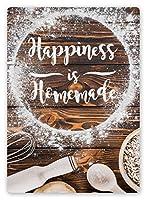 幸福は自家製 メタルポスター壁画ショップ看板ショップ看板表示板金属板ブリキ看板情報防水装飾レストラン日本食料品店カフェ旅行用品誕生日新年クリスマスパーティーギフト