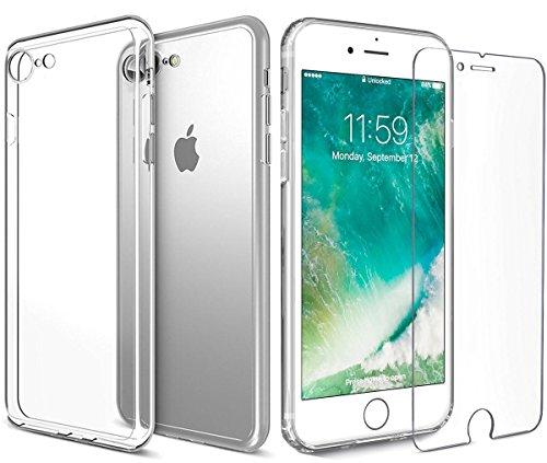 ACENIX® Ultra Slim Case Transparant Crystal Clear Case Gel TPU Soft Cover Skin Crystal Clear Bumper Case Voor iPhone 7 Plus [Levenslange garantie]