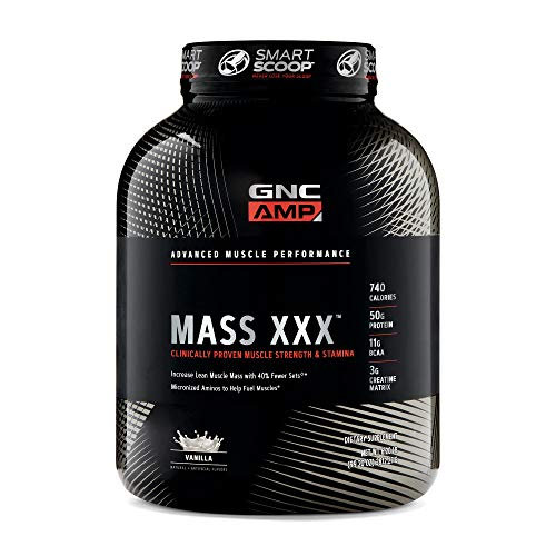 GNC AMP Mass XXX, Vanilla, 6.2 lb(s), Supports Muscle Protein Synthesis
