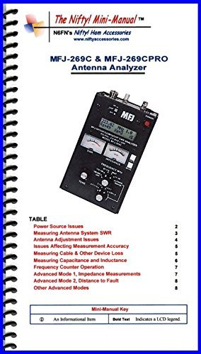 MFJ-269C and MFJ-269CPRO Analyzer Mini-Manual by Nifty Accessories