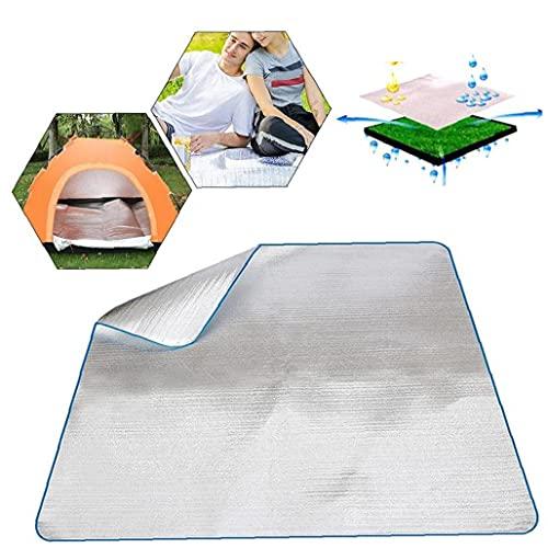 NIDONE Papel De Aluminio Resistente Agua Eva Manta para Dormir Colchón Mat Aluminio para Acampar Aire Libre Senderismo Comida Campestre del Recorrido
