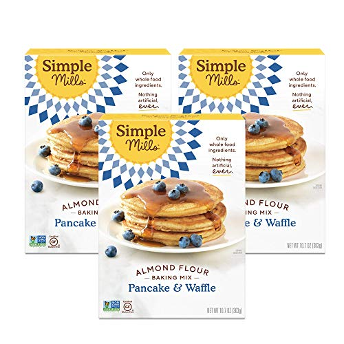 Simple Mills Almond Flour Mix Pancake amp Waffle 107 Ounce Pack of 3 PACKAGING MAY VARY
