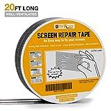 Screen Repair Tape - 20ft x 2in Door Window Screen Patch Repair Kit, Fiberglass Covering Mesh Repair Tape Strong Adhesive & Waterproof Seal for Repair Holes Tears (Silver-Gray)