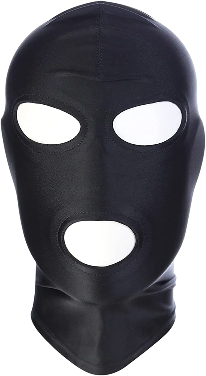YONGHS Unisex Super-cheap Spandex Blindfold Head Popular brand in the world Mask Eye Mouth Open Face Ho