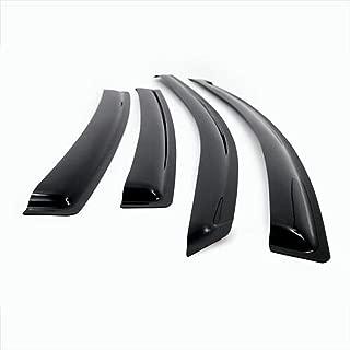ICBEAMER 4 pcs Side Window Visors Deflectors for 2012-15 Toyota Prius C Only 4 Doors Sedan Vent Visor Sun/Rain Guard