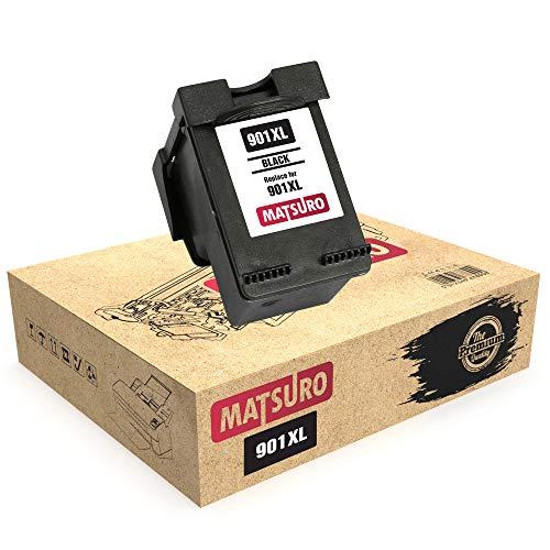 Matsuro Original | Kompatibel Remanufactured Tintenpatrone Ersatz für HP 901XL 901 (1 SCHWARZ)