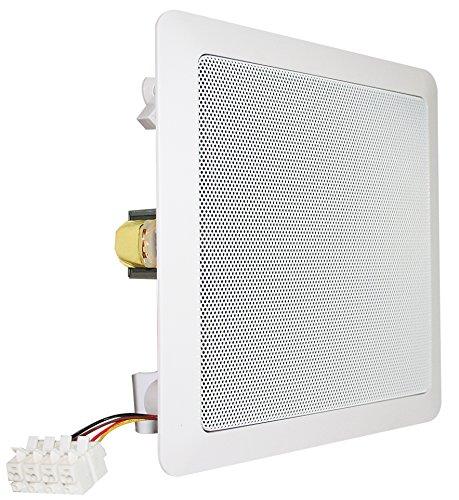 Visaton VS-DL18/2SQ - Altavoces (16,51 cm (6.5), 40W, 60W, 70-20000 Hz, 2 cm, Color blanco)