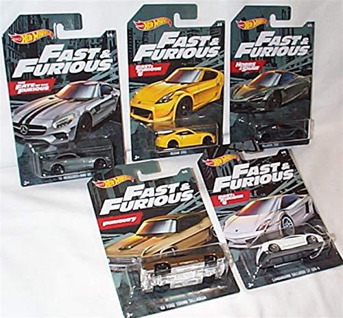 Die Cast Set Completo 5 Modellini Auto Fast & Furious 1/64 6cm Originali