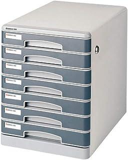 Nologo SH-CHEN 7-Layers Desktop Drawer Sorter Lockable Data Office Storage Drawer Confidentiality Office Desktop Drawer Organizer 13.9in11in14.3in File Cabinets
