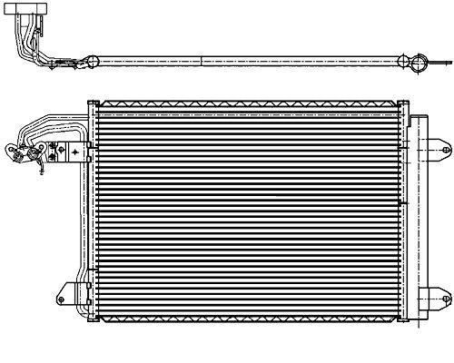 BEHR HELLA SERVICE 8FC 351 301-044 Kondensator, Klimaanlage