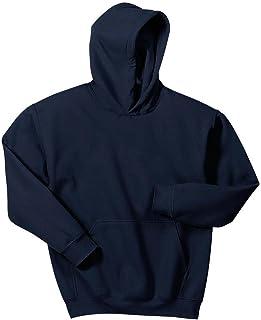 Joe's USA - Hoodies-Pullover Hooded Sweatshirt-Navy-M