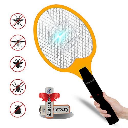 seenlast Raqueta Mosquitos Eléctrico, 3000V Antimosquitos Matamoscas Zapper Raqueta Plagas Repelente Insectos Eléctrica, Asesino de Mosquitos para Interior Exterior
