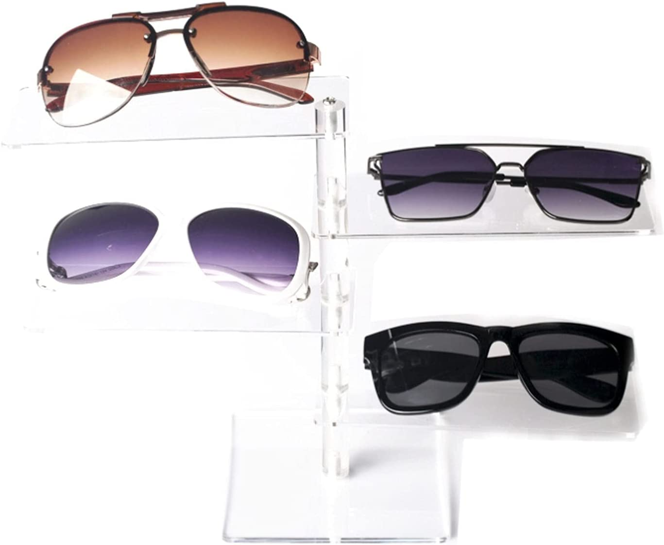 Excellence CJshop Sunglasses Rack Regular discount Holder 4 Frame St Eyeglasses Acrylic Tier
