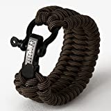 SurvivorCord Bracelet from Titan Survival | Made with Authentic Patented SurvivorCord (550 Paracord, Fishing line, Utility Wire, and Waxed Jute Tinder). Disassemble for Emergencies.