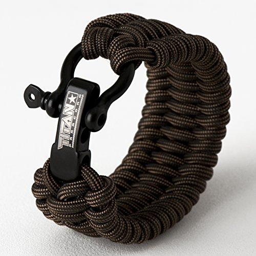 Titan Paracord Survival Bracelet | Bronze | Large (Fits 8' - 9' Wrist) |...