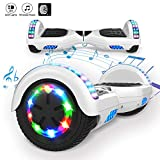 MARKBOARD Overboard Bluetooth 6.5 Pouces, Gyropode Hover Scooter Board Roues Lumineuses à LED,700W...