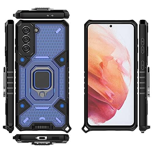 Case Cover, Per la custodia del telefono cellulare Samsung Galaxy S21, custodia per smartphone del supporto per anello rotante, porta cassa del telefono cellulare antiurto per Samsung Galaxy S21